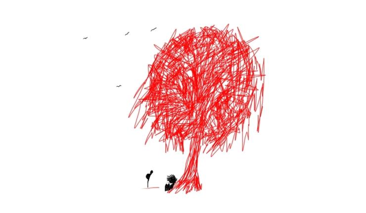Dibujo Adrian Gaston Fares para El Amancebador, el Joven Pálido