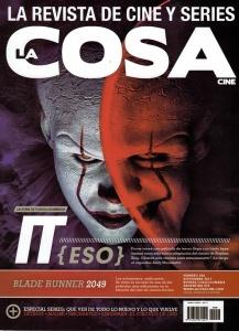 Portada Revista La Cosa en la que salió la nota a los ganadores de Blood Window