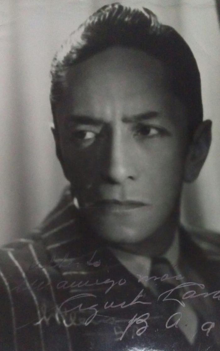 Fotografía dedicada de Agustín Lara a mi tío abuelo Alberto Laureano Martinez