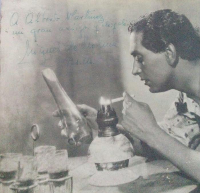 Miguel de Molina fotografía dedicada a mi tío abuelo Alberto Laureano Martinez