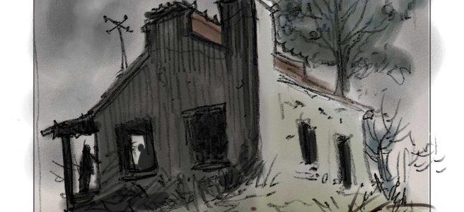 Ilustración boceto de Sebastián Cabrol para Gualicho
