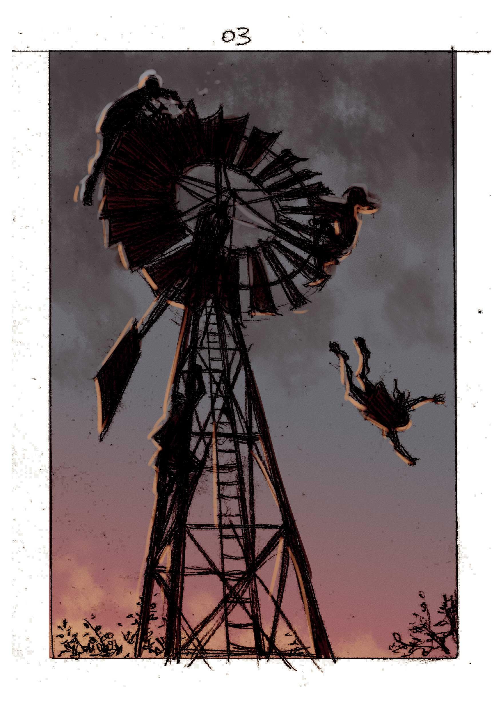 Uno de los bocetos de Sebastián Cabrol para Gualicho